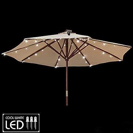 Gemmy Patio Umbrella Solar Led Lights Amazon Com