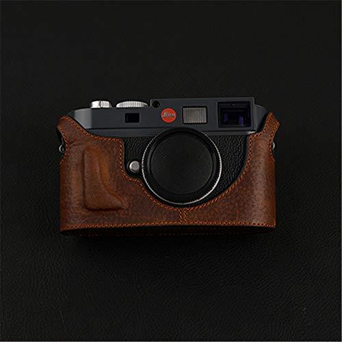 XJPB Handmade Cowhide Leather Case Cover Camera Bag Handle Base Half Set for Leica M9P M9 M-E ME M-M,Brown