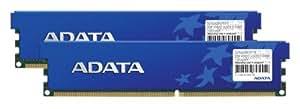 ADATA 2 GB DDR-400 (PC-3200) DIMM 2 x 1 GB Memory Kit with Heatspreader AD1U400A1G3DRH (Black)