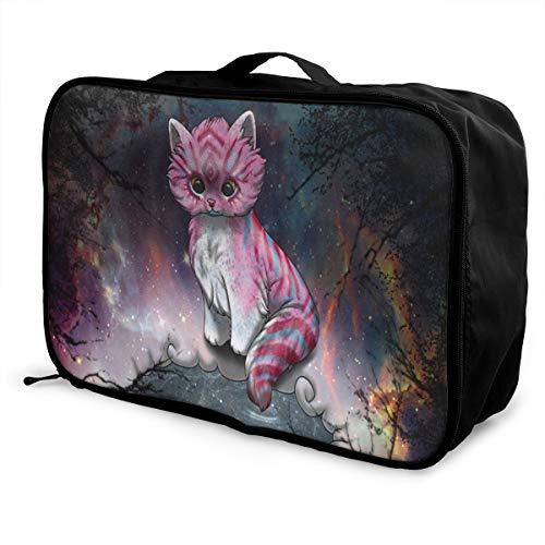Travel Bags Cute Sweet Fox Galaxy Portable Suitcase Trolley Handle Luggage Bag