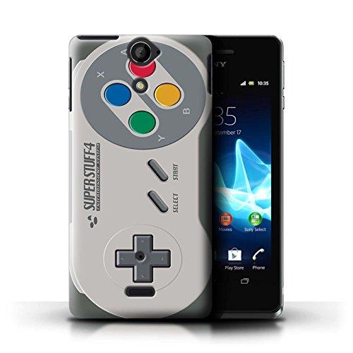 Kobalt® Imprimé Etui / Coque pour Sony Xperia V/LT25i / Super Nintendo conception / Série Console (jeux vidéo)