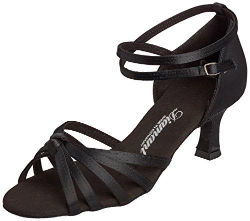 Diamant Damen Latein Tanzschuhe 109-077-091, Women's Ballroom Dance Shoes Black