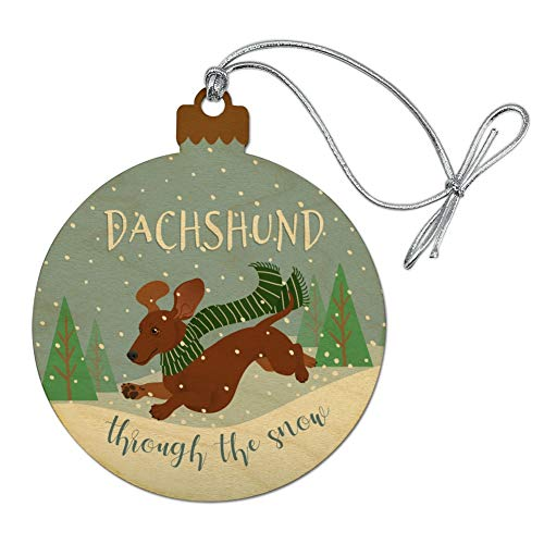 GRAPHICS & MORE Dachshund Dashing Through The Snow for sale  Delivered anywhere in USA