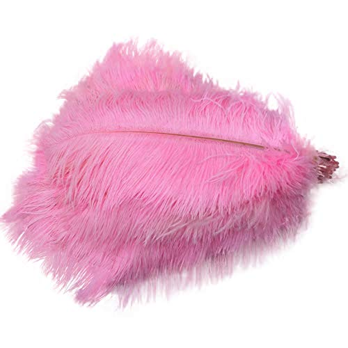Sowder 50pcs Natural 8-10inch(20-25cm) Ostrich Feathers Home Wedding - Ostrich Feathers Pink