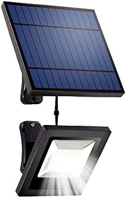 Ousam LED Solar Lights Outdoor with 16FT Cable Detachable Panel Solar Flood Light Waterproof for Ceiling Porch, Cabin roof,Tree,Doorway,Garden Solar Lighting White