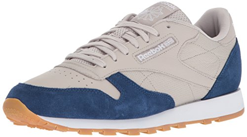 Reebok Heren Cl Leer Estl Sneaker Zand Steen / Gewassen Blauw / Wit Gum