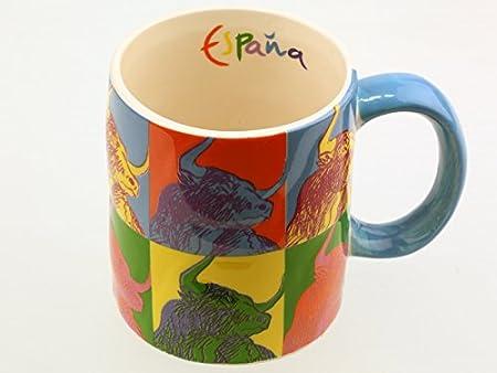Lote de 2-Taza de porcelana, diseño cuisine souvenir España Toro ...