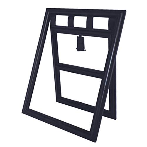 Alfie Pet – Roan Cat Flap Door for Sliding Screen Door – Color: Black
