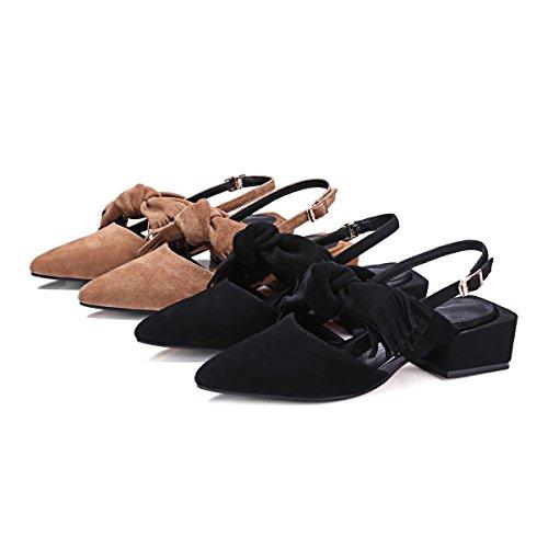 hexiajia - Zapatos Planos con Cordones mujer marrón