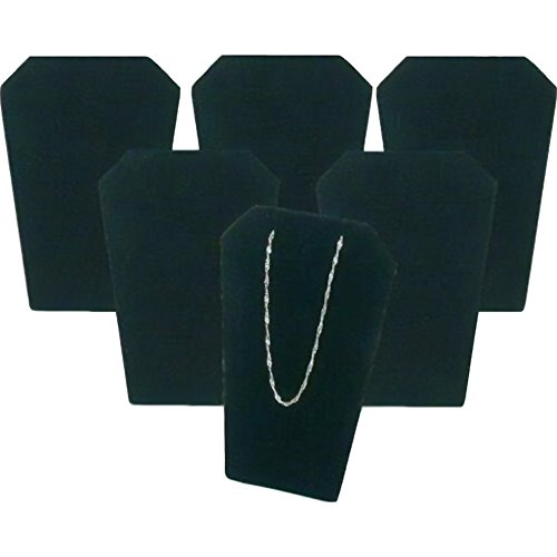 (FindingKing 6 Black Velvet Necklace Pendant Chain Earring Display Stands)