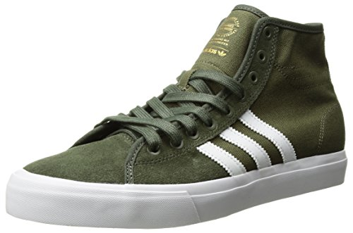 adidas Originals Men's Matchcourt HIGH RX Running Shoe, Olive Cargo/White/Base Green, 11 M US