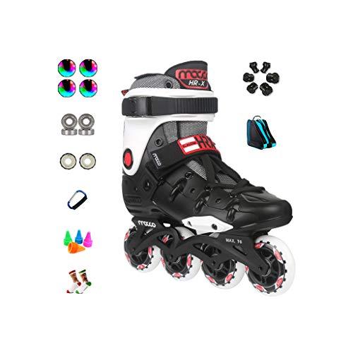 志す結果広々ailj インラインスケート、アダルト単列スケートローラースケートプロのメンズレディーススケートフルセット(3色) (色 : Red, サイズ さいず : EU 38/US 6/UK 5/JP 24cm)