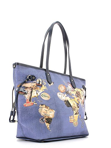 Borsa donna Y Not D-319 Word Blu in saldo -30%
