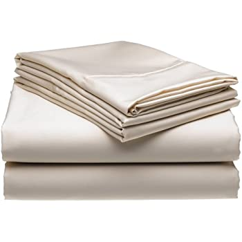 300 Thread Count Wrinkle Free No Iron Queen Sheet Set, Ivory