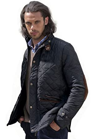 VEDONEIRE Men's NAVY Quilted Jacket (3039) padded quilt coat blue ...