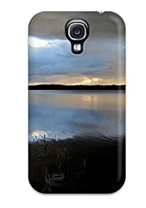 Flexible Tpu Back Case Cover For Galaxy S4 - Balance Lake Finland Water Forest Clouds Blue Waves Nature Summer