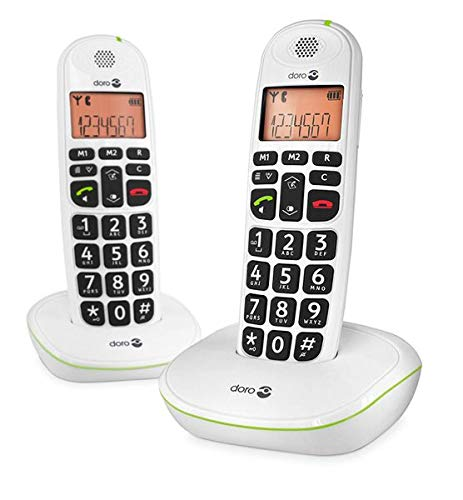 (Doro PhoneEasy 100W Twin DECT Cordless Phone - White)