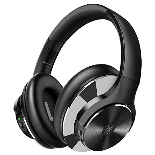 OneOdio Active Noise Cancelling Headphones Bluetooth 5.0 Over Ear Headphones with Mic and Hi-Fi Sound, 40H Playtime, Quick Charge, Lightweight Foldable Protein Earpads for Travel Work TV PC Cellphone