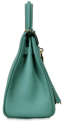 Shoulder Women's Handbags Body Satchel Green Lake Handbag Cherish Kiss Top Cross Padlock Handle 80vAqC5