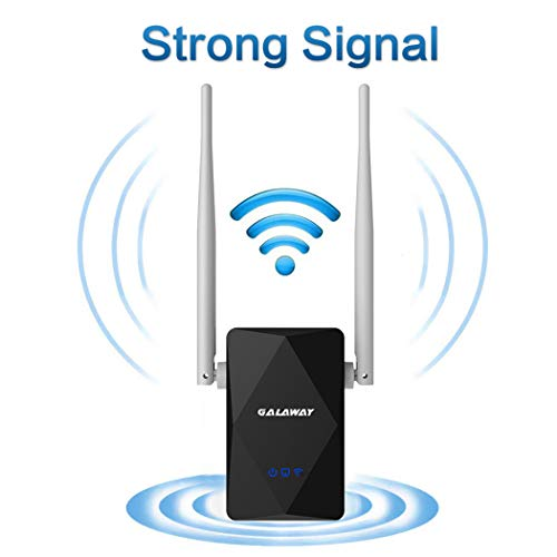 GALAWAY US402 300Mbps Wireless-N WiFi Long Range Extender with 360 Degree Full Coverage 2.4Ghz WiFi Signal Double External Antennas Repeate