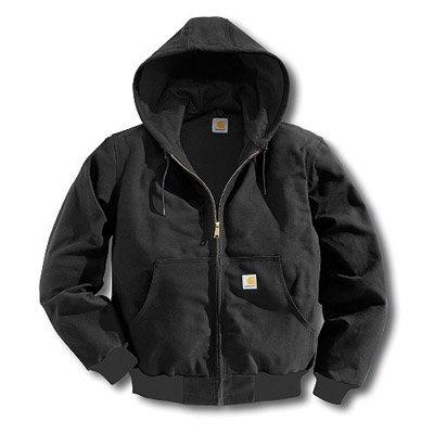 Carhartt Hooded Jacket, Insulated, Black, LT