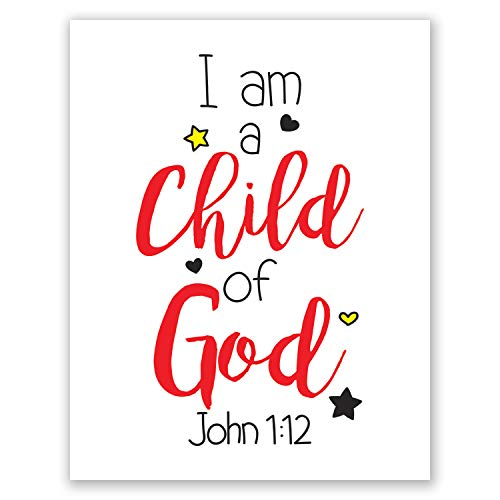 8x10 Nursery Wall Art // John 1 12 Scripture // Christian Children