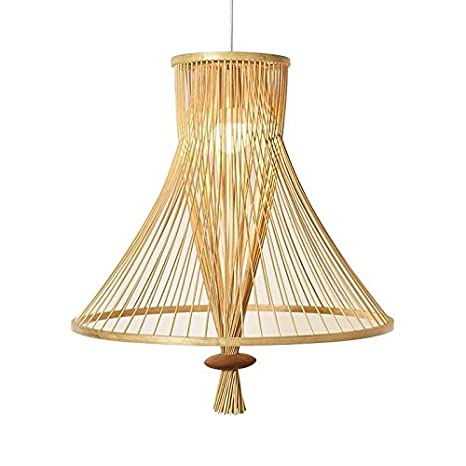 TL-LAMPS Haz Rattan Mimbre Bambú Sombra Lámpara Colgante ...