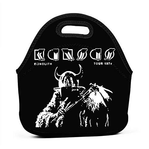 Lunch Bag Large Reusable Women Lunch Box Neoprene Insulated Lunch Tote Bag Organizer For School Work Outdoor Travel Picnic, Kansas Band Monolith Tour 1979