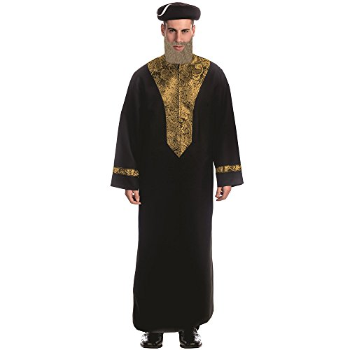 Dress Up America Adult Sephardic Chacham Rabbi Costume -