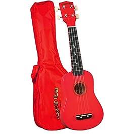 Diamond Head DU-102 Rainbow Soprano Ukulele – Red
