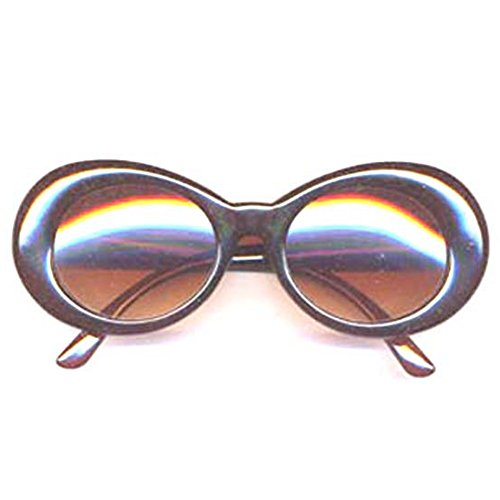 Kurt Cobain Costume (Kurt Cobain Brown Round Sunglasses)