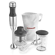 KitchenAid 3-Speed Immersion Blender, Contour Silver