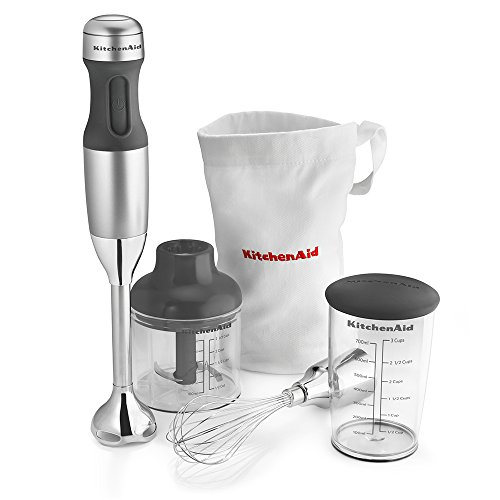 KitchenAid KHB2351CU 3-Speed Hand Blender - Contour Silver (Blender Blender compare prices)