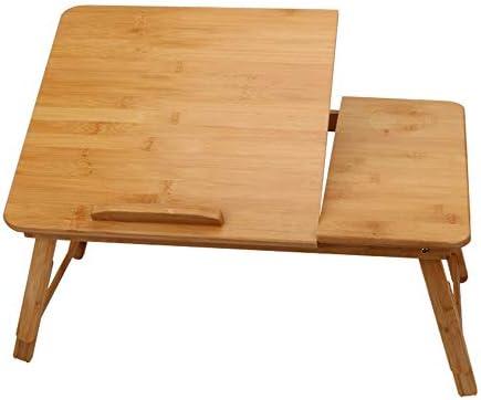 折りたたみ テーブル レイジー表寮アーティファクトベッド折りたたみパソコンデスクノートパソコンデスクベッドカードスロットノートパソコンデスクシンプルなパソコンデスクラック ローテーブル ミニ (Color : Wood, Size : M)