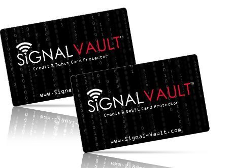 RFID Blocking Signal Vault Credit & Debit Card Protector (2 Cards)