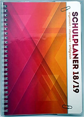 Schülerkalender Schülerplaner Timer mit Umschlag Schulplaner Blau 2018//2019