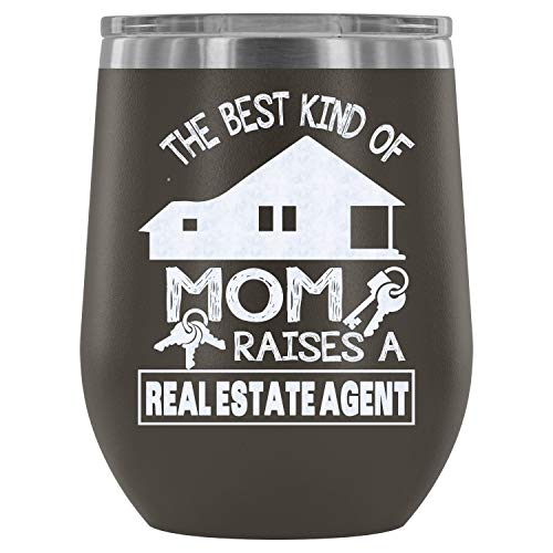 Stainless Steel Tumbler Cup with Lids for Wine, Railroader Mom  Wine Tumbler, I Love Mommy  Vacuum Insulated Wine Tumbler (Wine Tumbler 12Oz - Pewter)]()