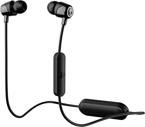 Skullcandy Jib Bluetooth Wireless In-Ear Earbuds with Microphone for Hands-Free Calls, 6-Hour Rechargeable Battery, Included Ear Gels for Noise Isolation, Black/Street by Skullcandy (Image #1)