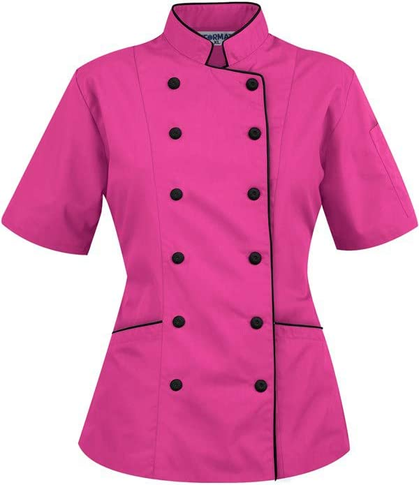 Amazon.com: Short Sleeves Women's Ladies Chef's Coat Jackets By ...