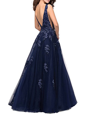 Spitze Festlichkleider Blau Brau Navy Traeger Neu Brautmutterkleider Zwei mia La Abendkleider 2018 Langes mit Promkleider wRxBIznpq