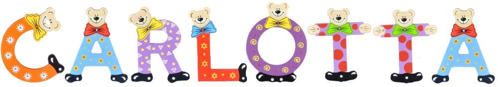 Sortiert Playshoes Kinder Holz-Buchstaben Namen-Set Carlotta