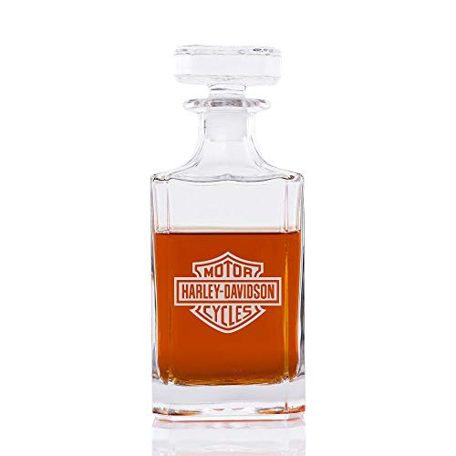 Classic Whiskey Decanter - Motorcycle Club - Engraved -