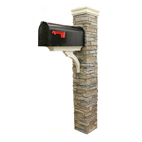 Eye Level Gray Cast Stone Mailbox Post with Curved Cap by Eye Level (Image #2)