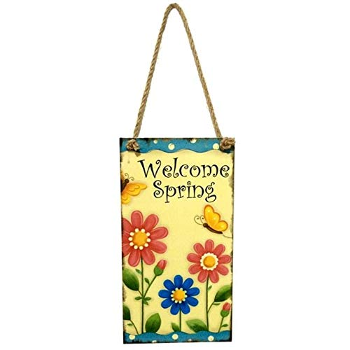 (Ants-Store - Happy Easter Greetings Plaque Rabbit Hanging Board Wall Art Easter Decor Home Decor Party decorations for home E5M1)