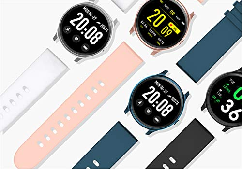 Fitness Tracker Watch with Heart Rate Blood Oxygen Monitor Pedometer,Step Calorie Sleep Monitor Music Control,Waterproof Activity Tracker with Sleep Monitor (Black)