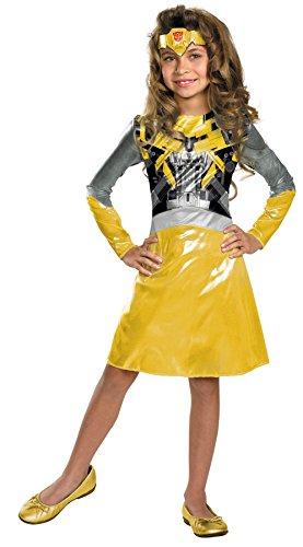 Girl Transformer Costume (Bumblebee Girl Classic Costume Size:)