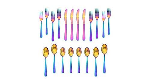 (Cranston Rainbow Mirror 20-piece flatware set, service for 4)