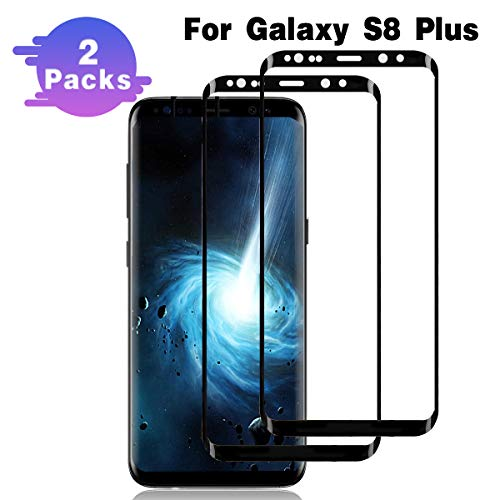 - Galaxy S8 Plus Screen Protector,(2 Packs) Full Coverage/3D Curved/Anti-Scratch/Anti-Bubble/High Definition/Tempered Glass Screen Protector Compatible Samsung Galaxy S8 Plus(NOT S8)