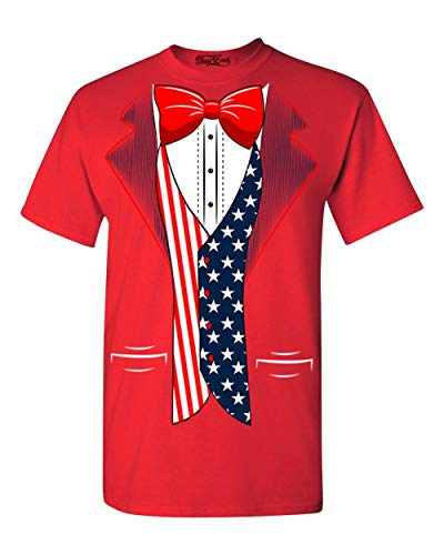 Shop4Ever 4th of July USA Tuxedo American Flag T-Shirt XX-LargeRed 0]()