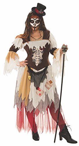 Voodoo Woman Halloween Costume (Rubie's Women's Plus Conjure Woman, As Shown, One)